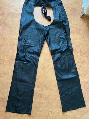 Skórzane spodnie czarny Skóra