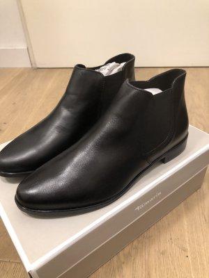 Leder Chelsea Boots Tamaris schwarz Gr. 37 NEU