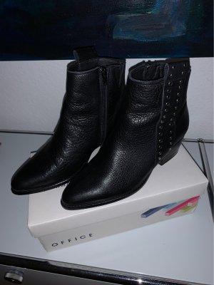 Shoe the Bear Santiag noir-jaune foncé cuir