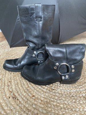 Made in Italy Buty w stylu western czarny-srebrny