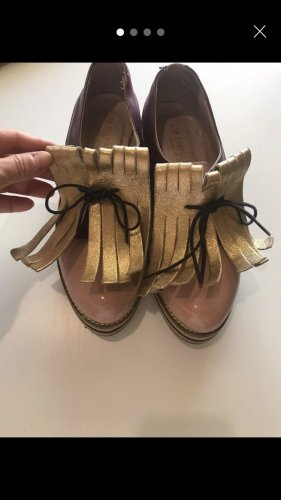 leo studio design Mocasines burdeos-beige