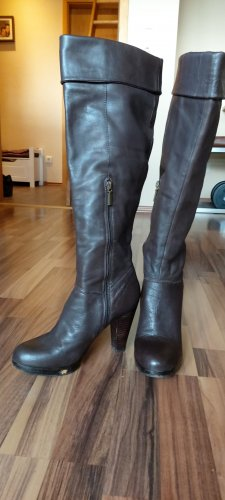 5 th Avenue Platform Booties dark brown