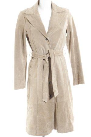 Leder Emotion Ledermantel beige Casual-Look