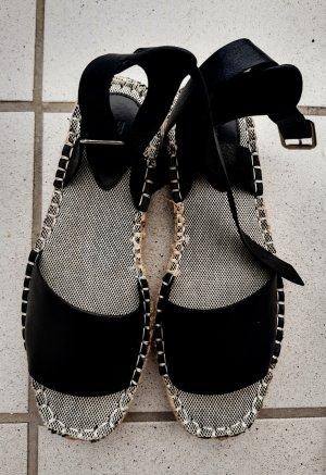 H&M Chaussures bateau noir cuir