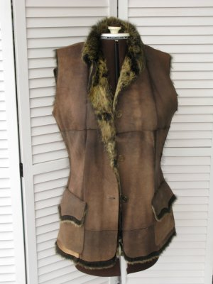 Paul Smith Smanicato di pelliccia marrone-grigio-bronzo Pelle