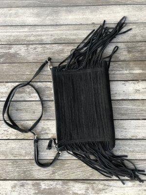 Zign Sac à franges noir cuir