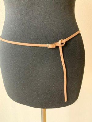 Cintura in tessuto color carne