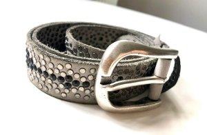 B Belt Cinturón de cuero gris claro Cuero