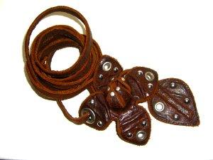 Miu Miu Cinturón pélvico rojo amarronado Cuero