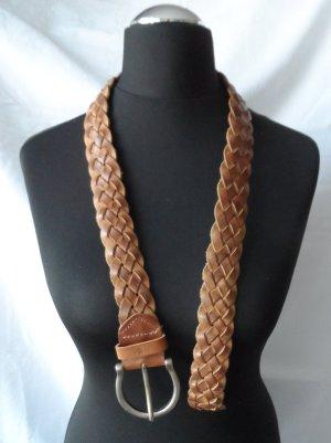 Braided Belt cognac-coloured leather