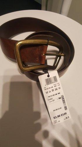 Marc Cain Cinturón de cuero color bronce-marrón