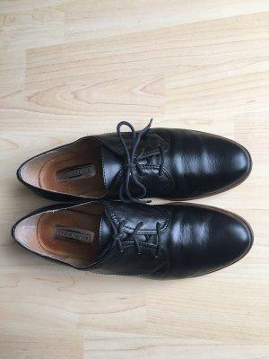 5 th Avenue Sznurowane buty czarny-jasnobrązowy
