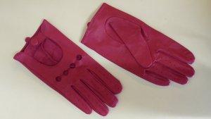 Guanto in pelle magenta-rosa Pelle
