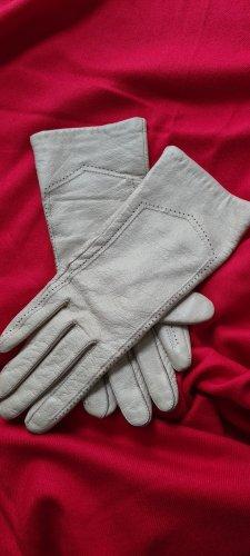 -8- Venice Rękawiczki skórzane kremowy-jasnobeżowy