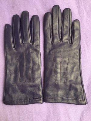 Guantes de cuero violeta oscuro Cuero