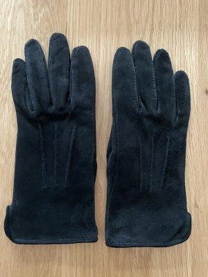 keine Marke Gants en cuir noir cuir