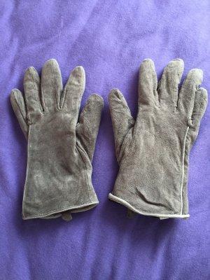Adler Rękawiczki skórzane jasnoszary Skóra