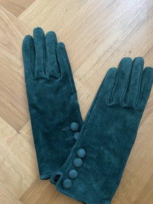 H&M Leather Gloves dark green