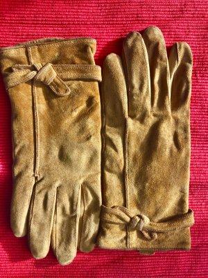 Gants en cuir brun sable cuir