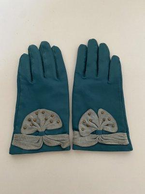 Hotwind Leren handschoenen petrol