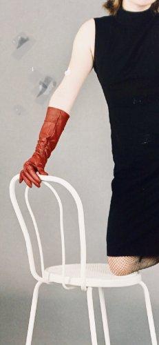 Leder Handschuhe lang Burgunder rot Größe M