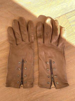 Leder Handschuhe mit Swarovski Kristallen