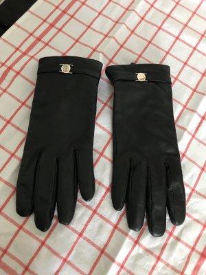 Gants en cuir noir