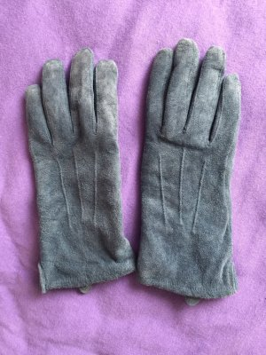 Leather Gloves cadet blue leather