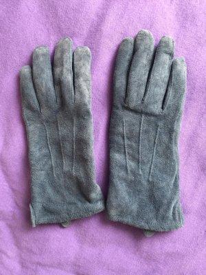 Leder Handschuhe petroblau