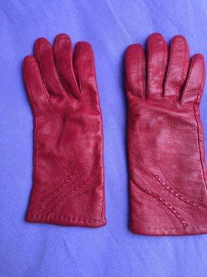 Pavlex Rękawiczki skórzane ciemnoczerwony-głęboka czerwień Skóra
