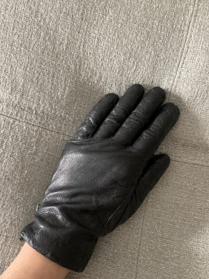 COS Leather Gloves black