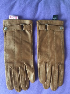 Nolita Leather Gloves cognac-coloured leather