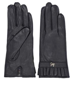 Pride&Dignity Rękawiczki skórzane czarny