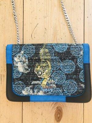 Leder Handtasche mit Tigermotiv