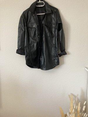 H&M Skórzana koszula czarny