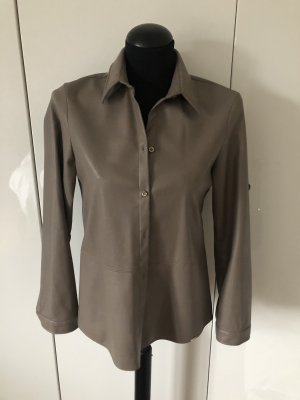 Cinque Skórzana koszula szaro-brązowy