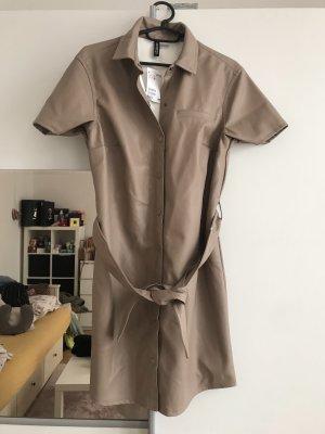 Leder Hemd Kleid