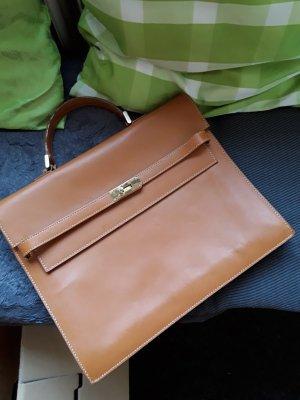 Unbekannte Marke Carry Bag dark orange leather