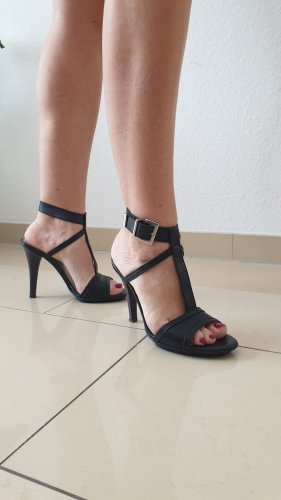 """Leder High Heel Sandaletten in schwarz von """"Stefanel"""", Gr. 36"""