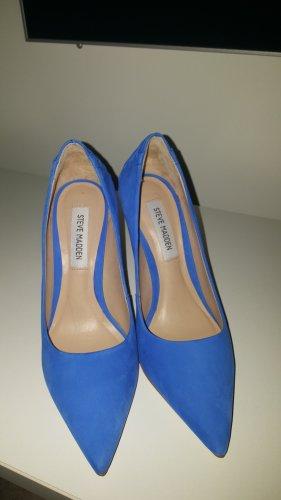 Steve Madden High Heels neon blue leather