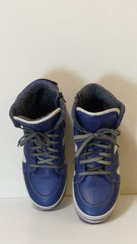 High top sneaker veelkleurig Leer