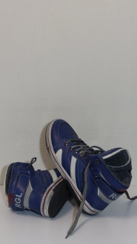 Leder High Top Sneaker, Used Look