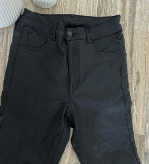 Leder High-Waist Jeans