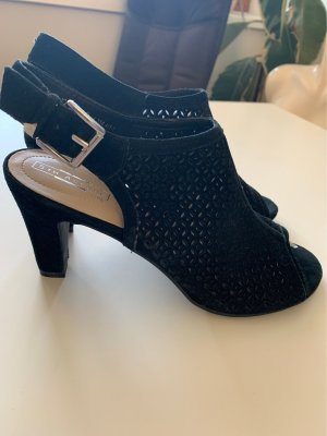 5th Avenue Hoge hakken sandalen zwart Leer