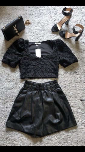 Zara High-Waist-Shorts black
