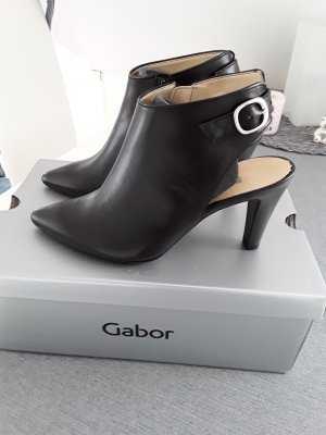 Gabor Chaussure à talons carrés noir cuir