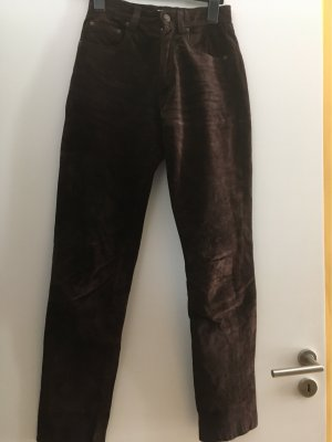 Bamboo Leather Trousers dark brown