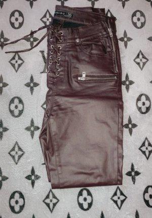 unbekannte Skórzane spodnie Wielokolorowy