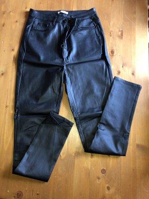 Colloseum Pantalón de cuero negro