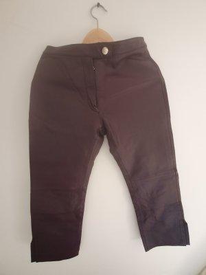 Vero Moda Skórzane spodnie purpurowy
